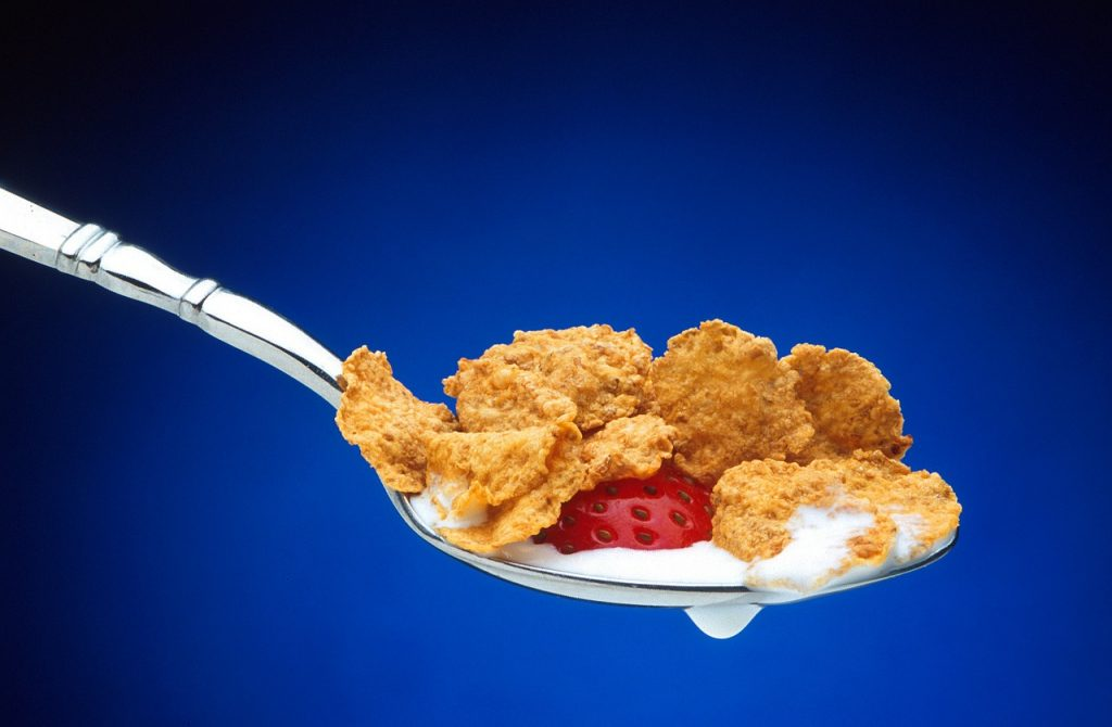 Cereal on a spoon
